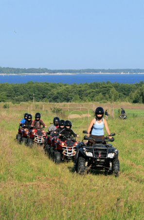 Buggy excursion at the seashore