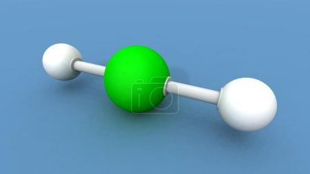 A 3d render of a beryllium hydride molecule...