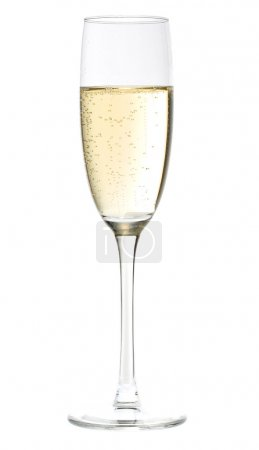 Photo for Champagne glasses isolated on white background - Royalty Free Image