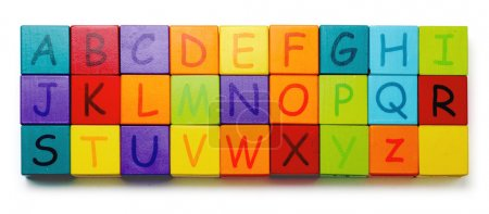 Alphabet in baby blocks