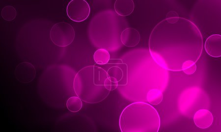 Glowing circles on a purple background