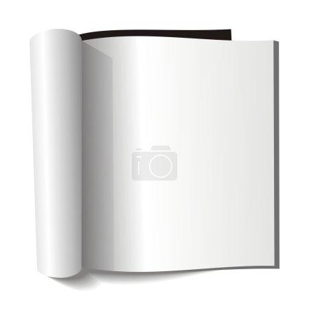 Blank magazine. Blank page