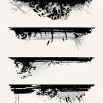 Set of grunge edges. Vector illustration in black ...