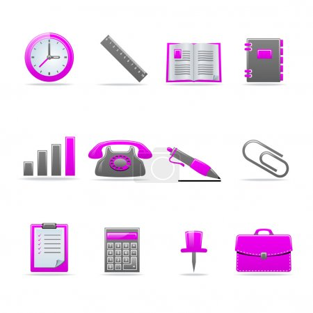 Illustration for Set of 12 glossy web icons Part 2 (see other in my portfolio) - Royalty Free Image