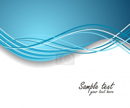 Illustration for Dynamic wave background in blue. Vector illustration. - Royalty Free Image