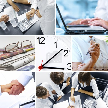Photo for Business theme photo collage composed of few images - Royalty Free Image