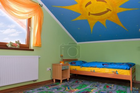 Photo pour Intérieur d'une chambre d'enfant - image libre de droit