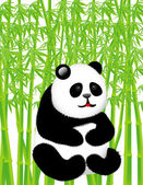 Panda in the bamboo forest Vector illustration