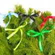 The image of bows from satiny tapes in the form of...