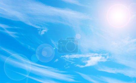 Foto de Fondo abstracto azul con una fuente de luz - Imagen libre de derechos
