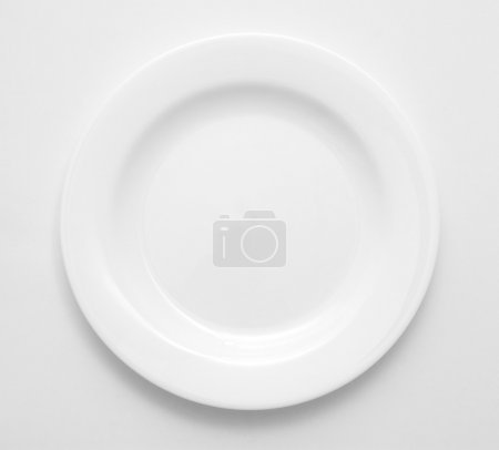 Photo for White plate isolated on white. - Royalty Free Image