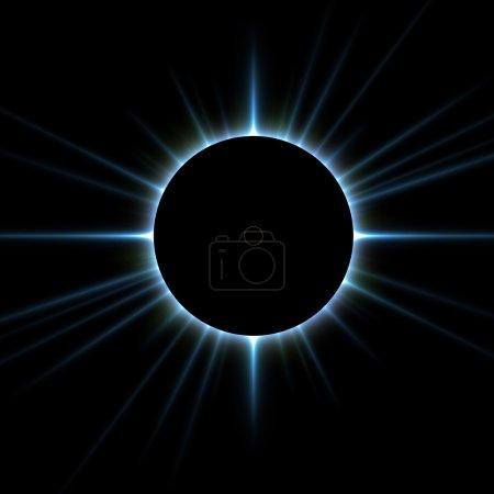 Photo pour Éclipse totale de soleil - image libre de droit