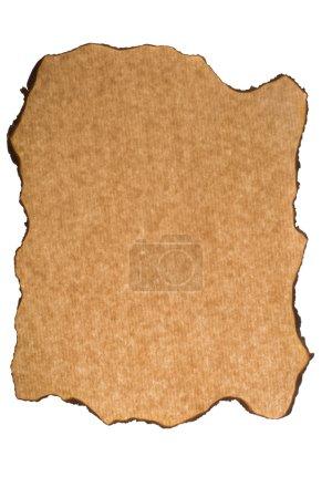 Photo pour Papier brûlé - image libre de droit