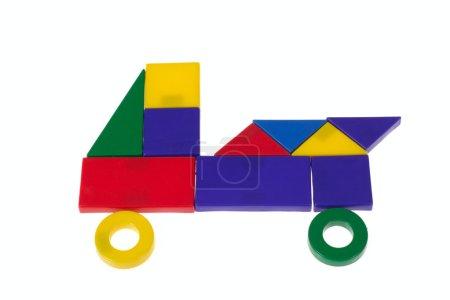 Car from plastic blocks