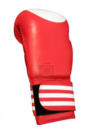 One red boxing glove, isolated