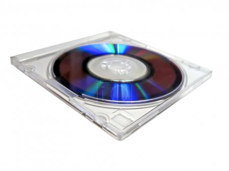 Single CD plastic box with digital disk