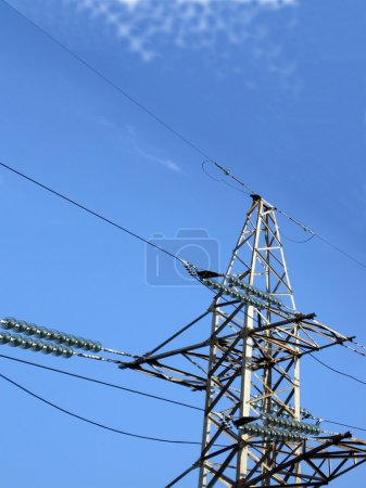 Electrical powerlines, electricity pylon