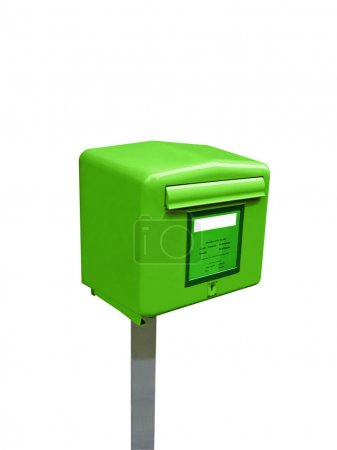 Single mail post box, metal container