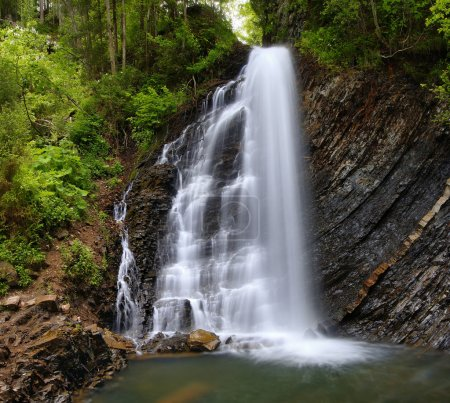 Waterfall in mountains