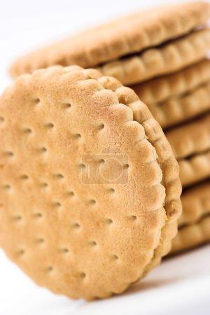 Photo pour Empilement de cookies fermer peu profond Dof - image libre de droit