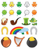 St Patricks day icon set