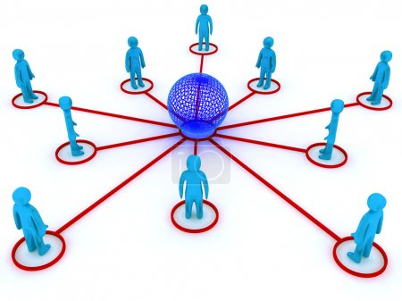 Photo for Concept image representing global networking. This image is 3d render. - Royalty Free Image