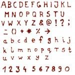 Scanned glue glitter doodle handmade alphabet - hi...
