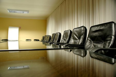 Photo for Empty conference hall, business meeting details, business concept - Royalty Free Image