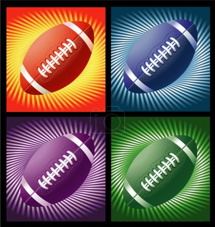 Rugby balls with lines background