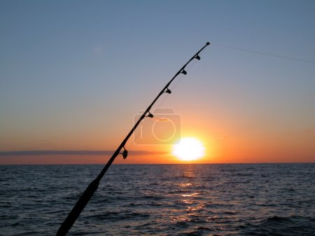 Fishing at Atlantic Ocean
