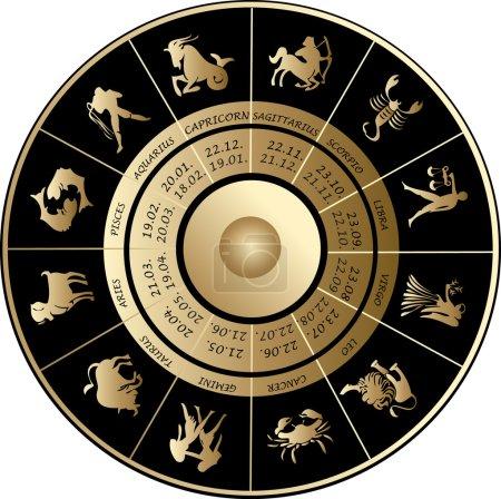 Illustration for Horoscope icons - Royalty Free Image
