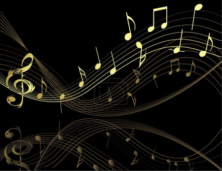 Illustration for Background with music notes - Royalty Free Image