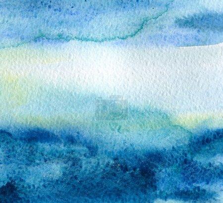 Photo pour Abstrait aquarelle peint à la main fond - image libre de droit