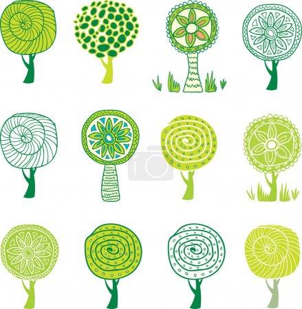 Illustration for Set of tree - Royalty Free Image