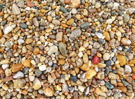 Photo pour Image d'arrière-plan abstraite de pierres colorées plage - image libre de droit