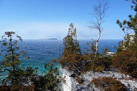 Cliff view of Georgian Bay