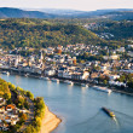 Bird's eye view of Boppard on the Rhine...