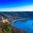 Middle Rhine Valley with Burg Katz and the Loreley...