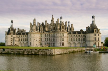 Chambord castle in france loire valley in late evening light