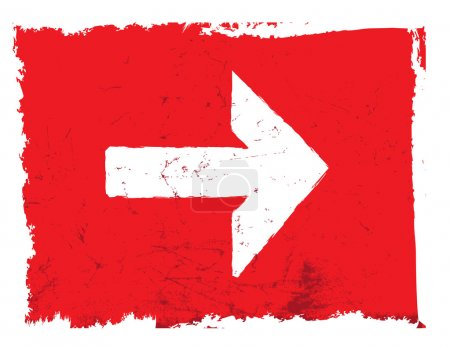 Photo for Red grunge forward arrow file - Royalty Free Image