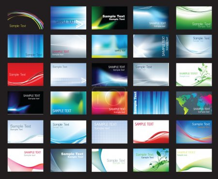 Photo for Illustration of large set of coloured business card templates - Royalty Free Image