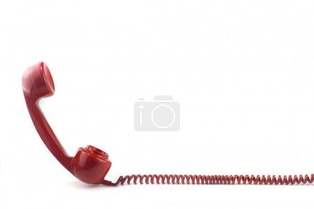 Photo pour À l'ancienne des années 70 ou 50 ' s style téléphone rouge - image libre de droit