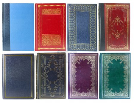 Photo for Big set of old book covers front view - Royalty Free Image