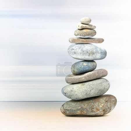 Tower of rocks to represent balance or spa...