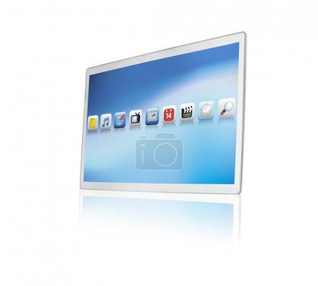 Modern touchscreen tablet or screen
