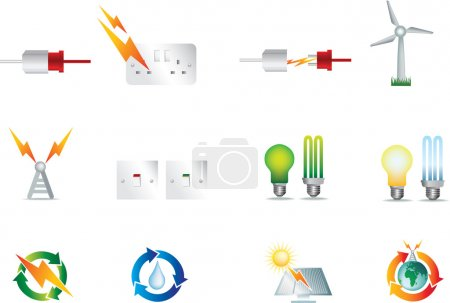 Electric power icons