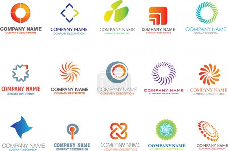 Illustration for Set of corporate logos symbols and marks - Royalty Free Image