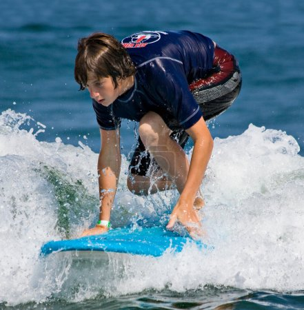 Teenage Boy Surfing