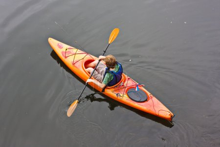 Teen in Kayak