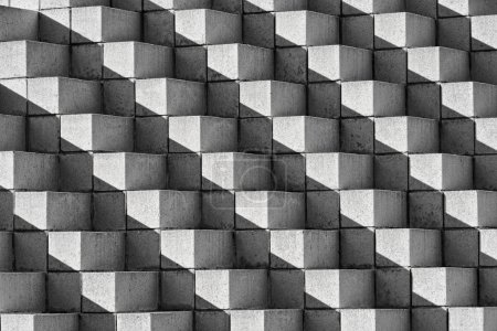 Astract Bricks and Shadows in B&W